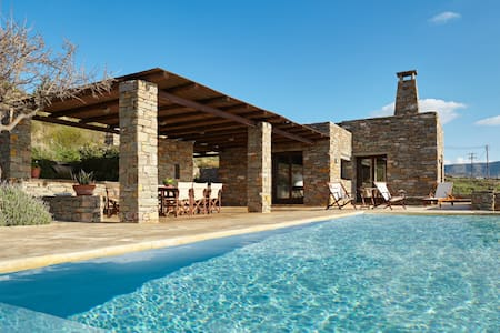 Purple Butterfly-Luxury living with pool - Koundouros