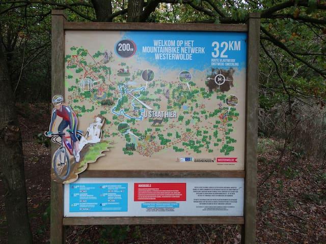 Mountainbike trail bij het park