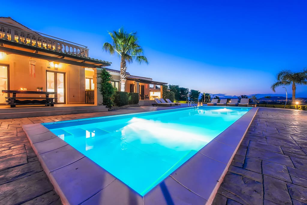 Our Swimming pool by night