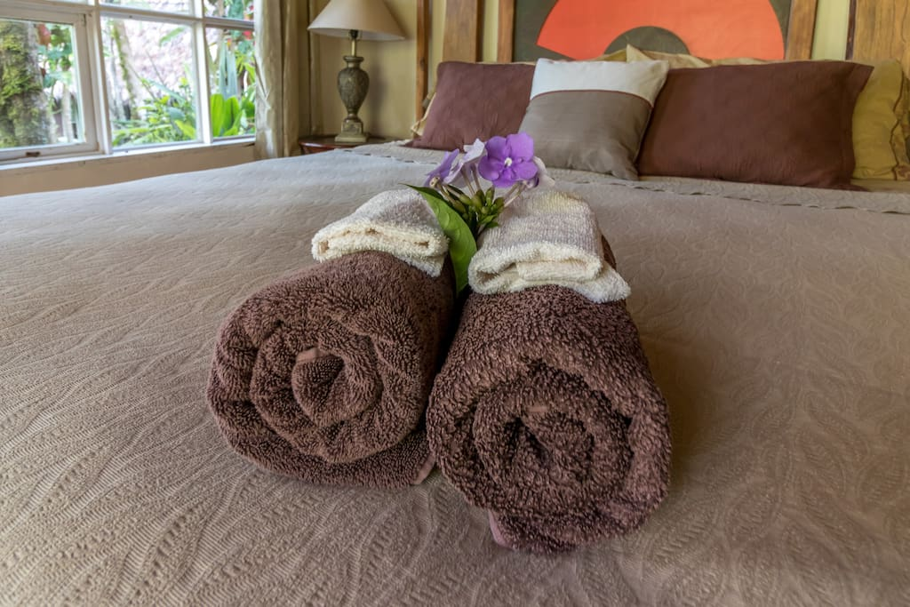 Top notch bedding and towels for your comfort.
