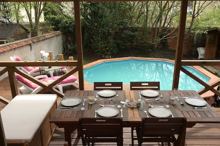 4 bedroomed townhouse with pool near Disneyland - Esbly - Rumah