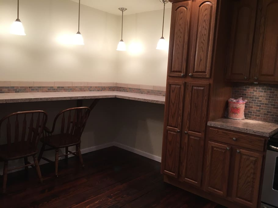 Eat in Kitchen with counter and bar stools