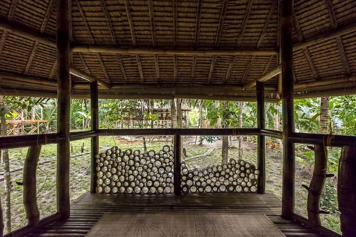 Bamboo bungalow by the river - Loboc, Visayas centrales, Philippines - Zomerhuis/Cottage