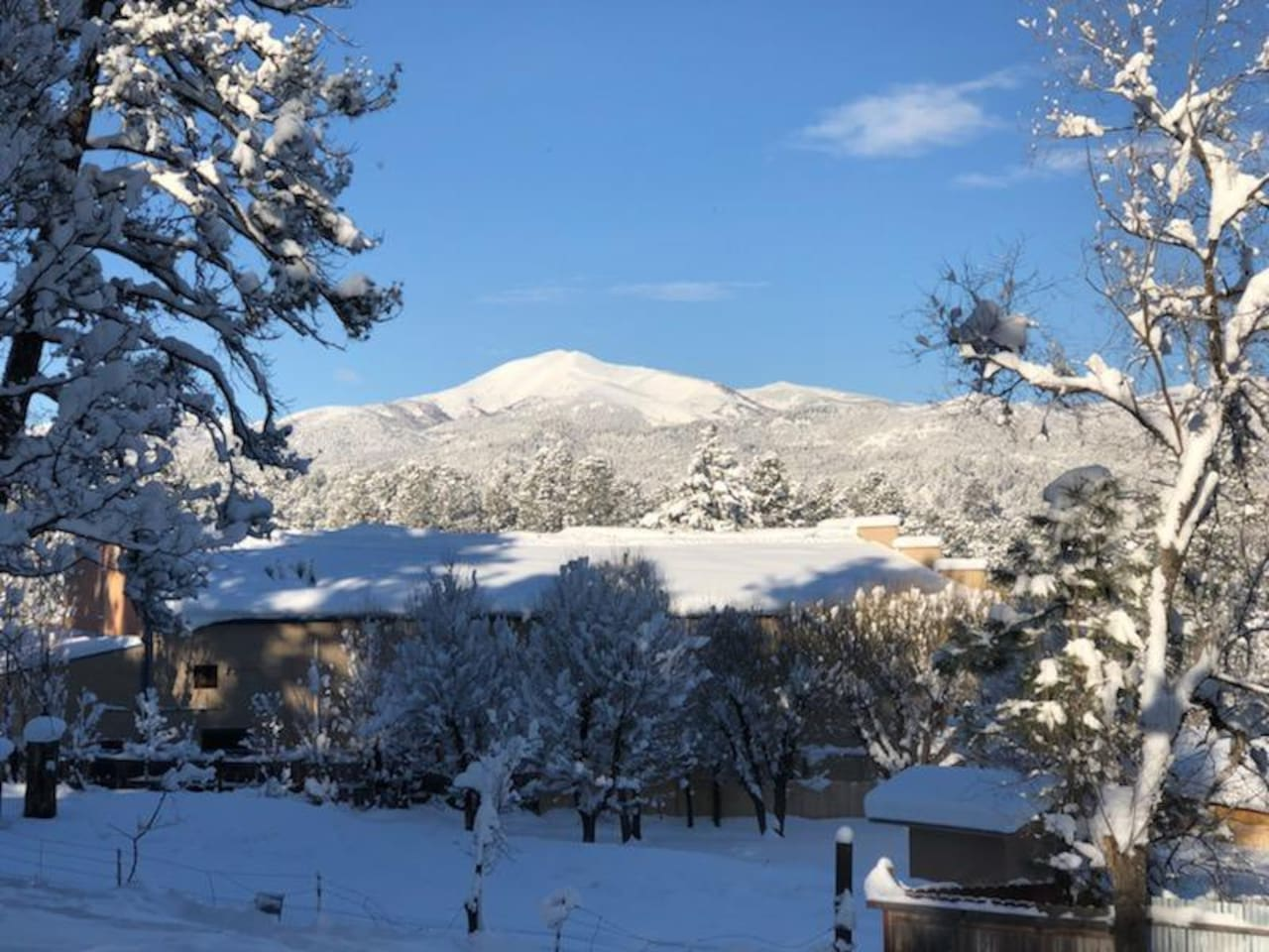 Sierra Blanca,it is a winter view but I love this pic from our front porch