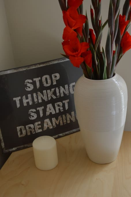 Bedroom - stop thinking, start dreaming ... and exploring.