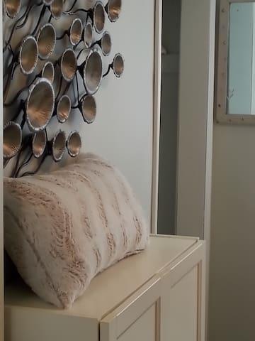 Closet w/Cabinet & Mirror