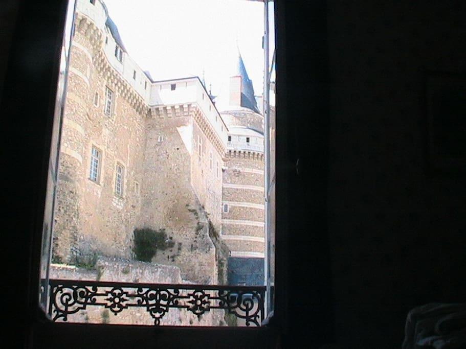 vue depuis la fenêtre de la chambre