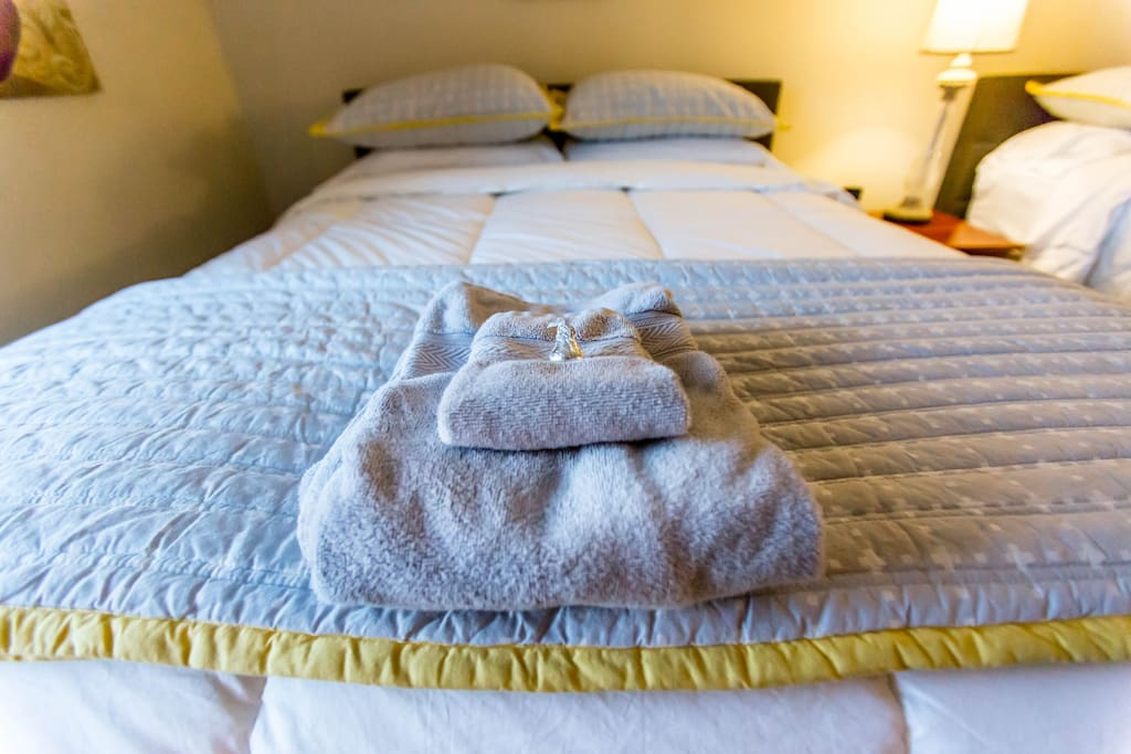 Comfy pillow top mattress with down comforters