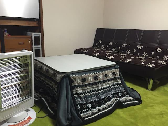 1DKの部屋ですが、家庭的な快適さを楽しんでいただけると思います。 - 宮崎市