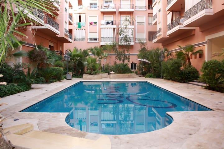 R sidence yasmine signature 2 pi ces avec piscine for Appartement a louer a marrakech avec piscine