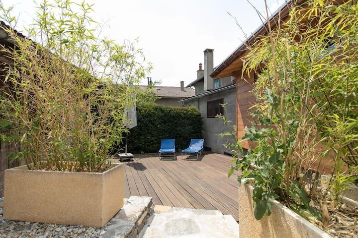 La terrasse privative extérieure