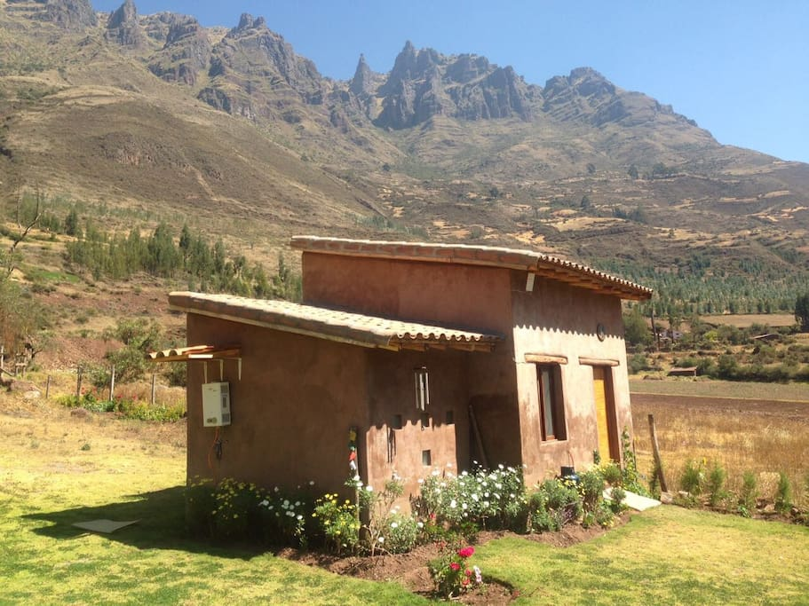 Beautiful Cabañita in La Pacha surrounded by mountains in the Sacred Valley.