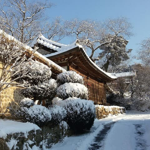 Korean Traditional house Han-ok (청주한옥체험 '고선재' 침대방)
