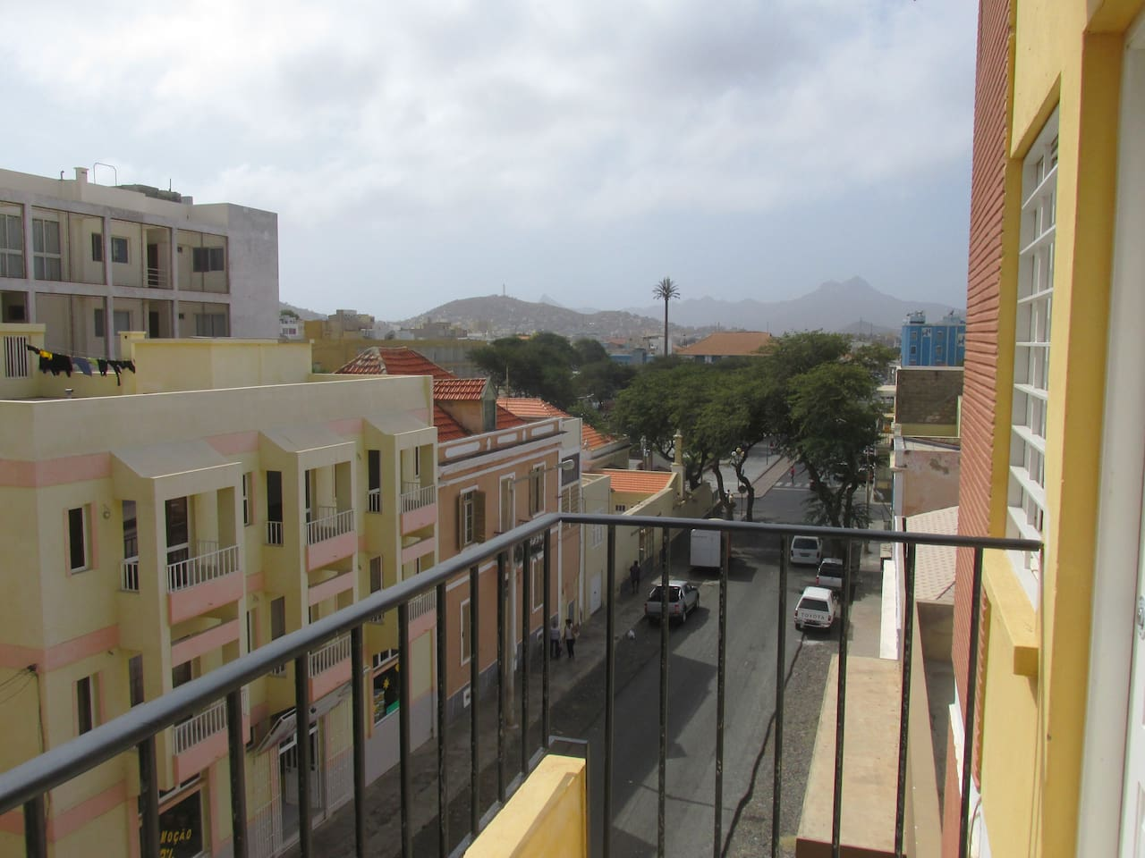 Balcony near the city maisn Square