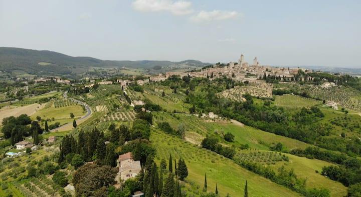 Casolare (200 m²) con vista unica di San Gimignano