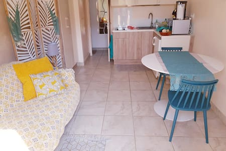 Beau Studio Terrasse_Direct plage 20m_calme_pkg 0€