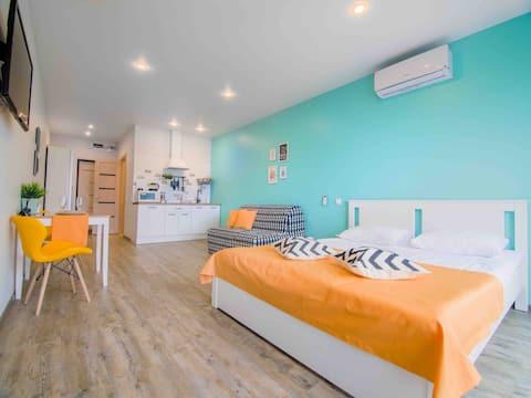 Skandi House- уютная студия в центре города