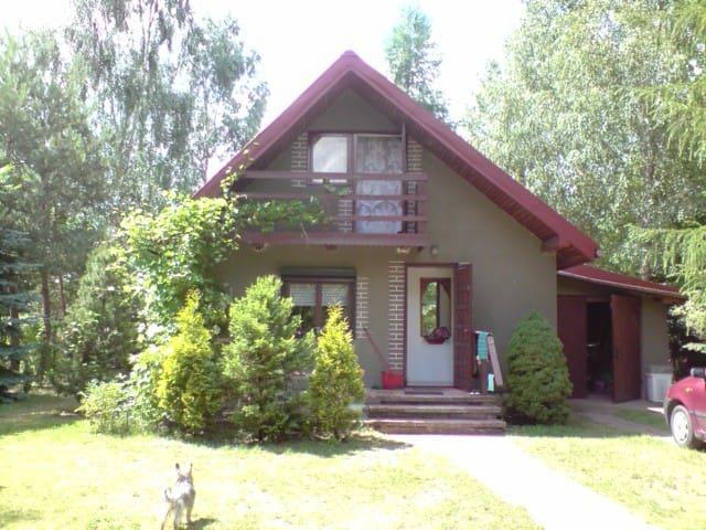 Samodzielny dom na lato nad wodą przy lesie