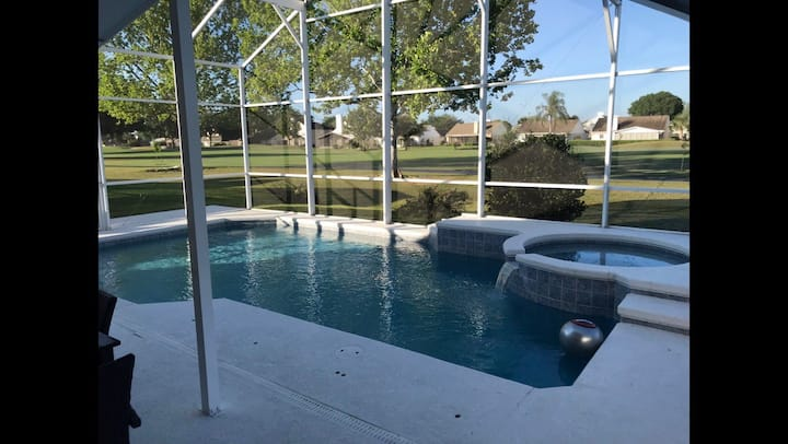 Villa w/ golf course view,  private pool&hot tub