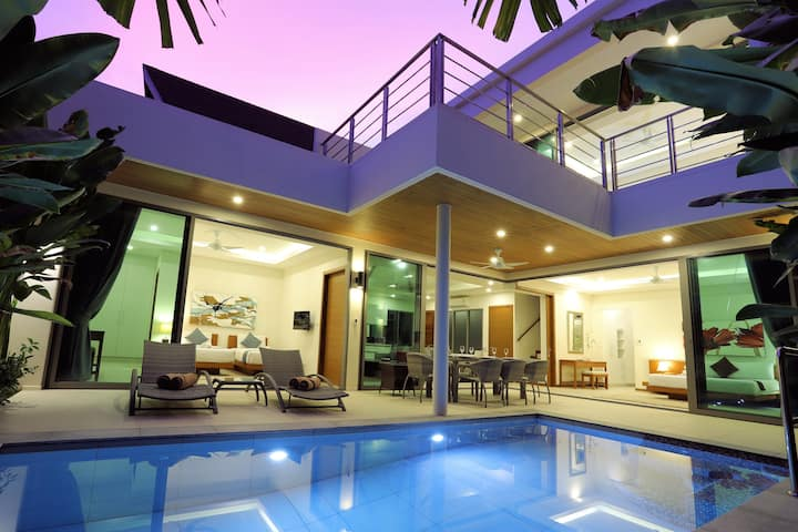 New 3-BR Pool Villa⍟200m Rawai Beach⍟Seafood Mkt