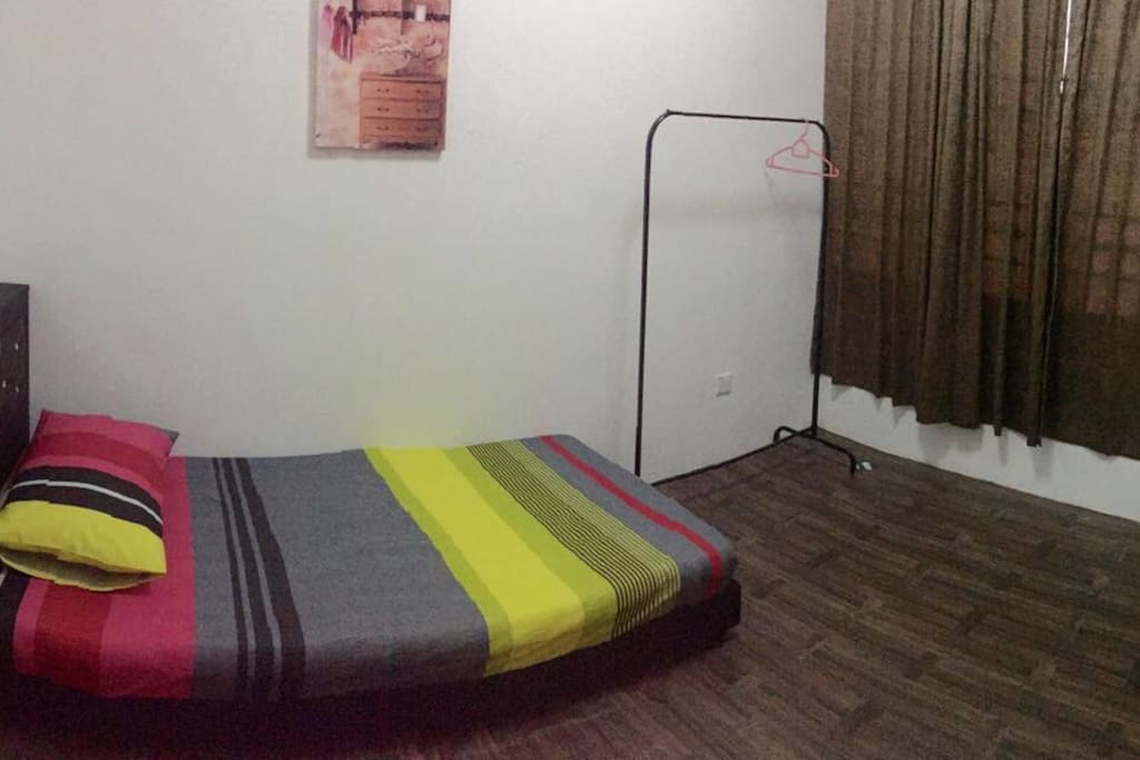 4th bedroom. Single bed with attached bathroom
