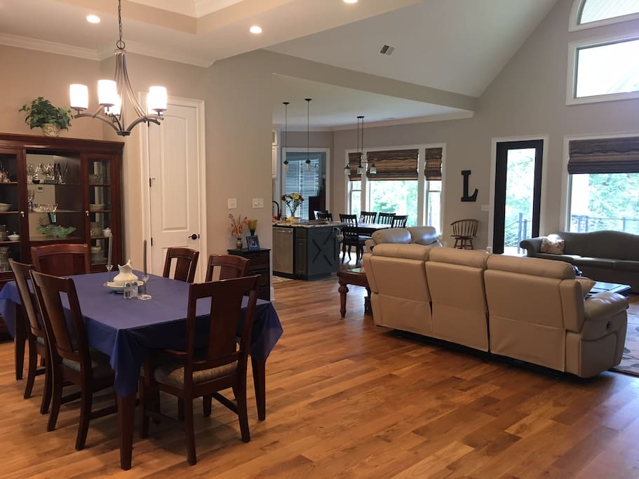 Great room/Dining room and kitchen.