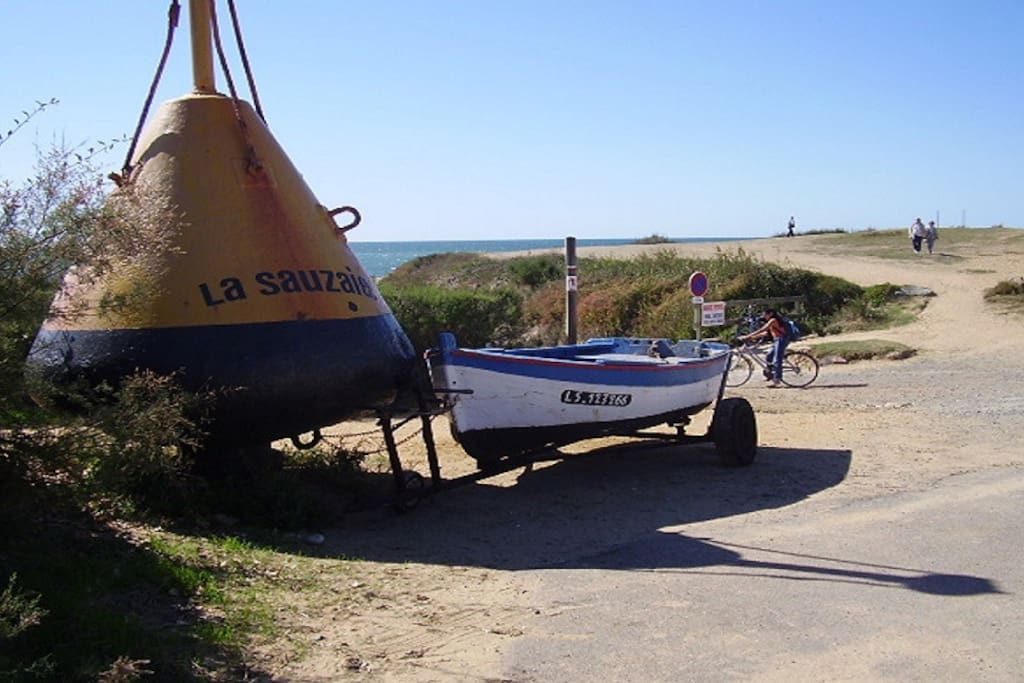 La Sauzaise. Leading to the small slipway and sandy beach just 50mtrs from the Apartment.