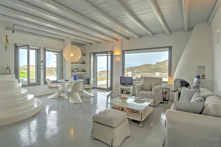Superb Cyclades style Villa in Otzias - Kea -3bdrm