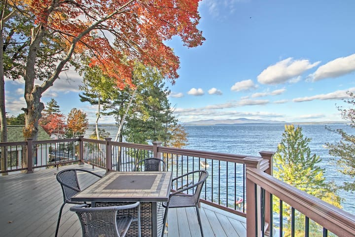 Waterfront Gilford Home w/Stunning Lake Views!