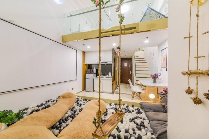 网红复式大床套房