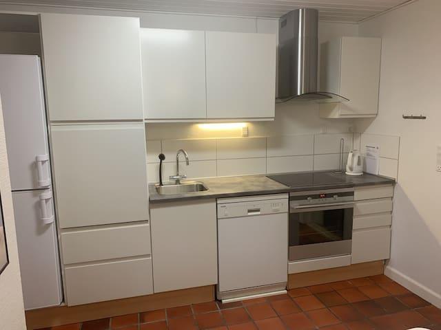 Egen lejlighed med køkken og bad