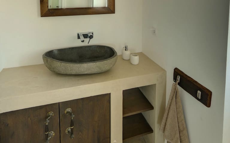 Bathroom #3: washstand made from concrete