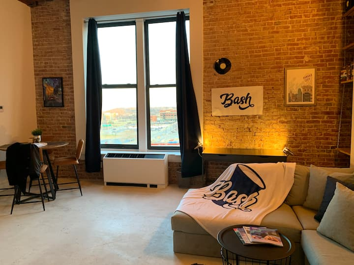Vintage brick loft in the heart of downtown KC