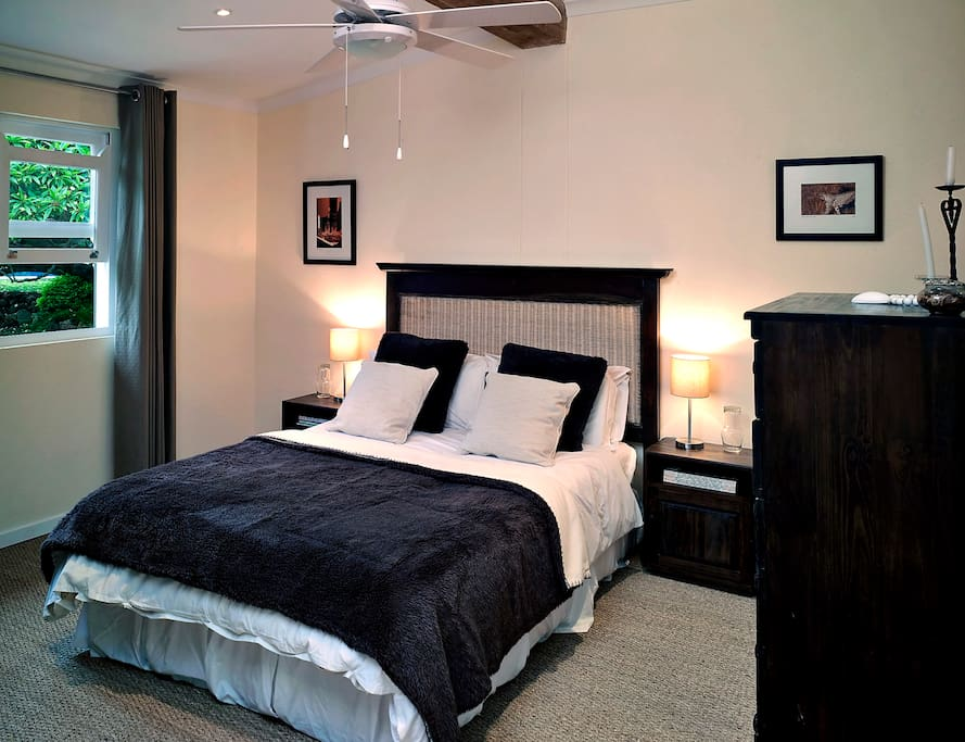Bedroom One has a double bed only.