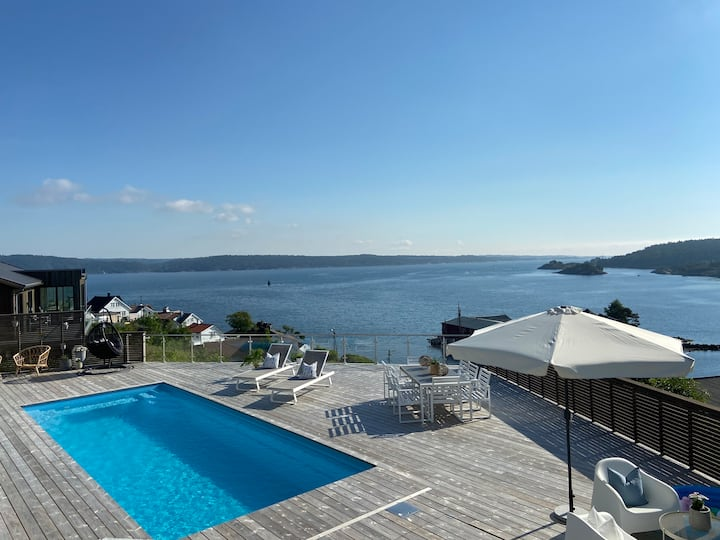 Ny leilighet med panorama utsikt og Svømmebasseng