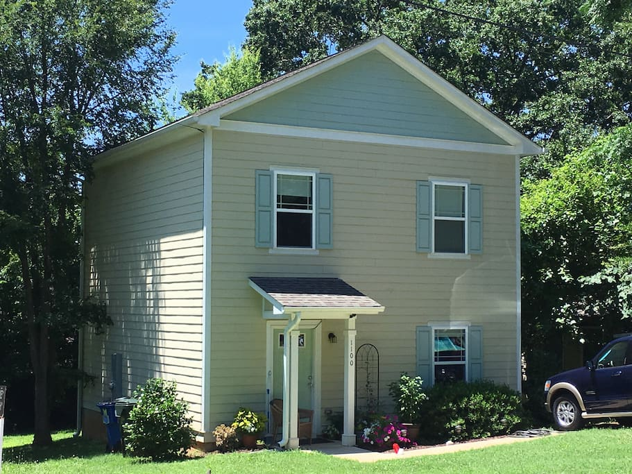 Your Home away from Home is a 2 story custom built home in the heart of Downtown Raleigh!