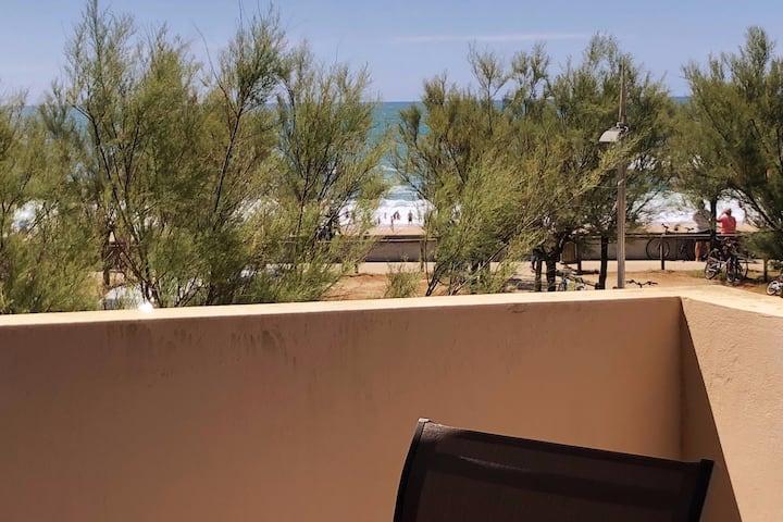 🏖Studio Point Sud*** Terrasse sur la plage Piscine