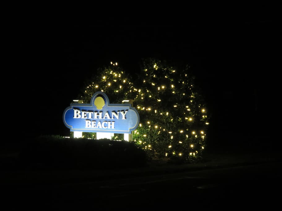 Bethany Beach, the quiet resort located 5 miles South of Dewey and Rehoboth Beaches and 5 miles North of downtown Bethany Beach.  Lewes is a couple miles further north of Rehoboth and has a ferry to Cape May and on to Atlantic City, NJ.