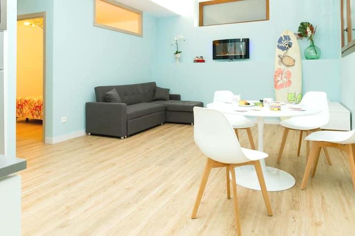 Coqueto apartamento en Sopela con chimenea y WiFi