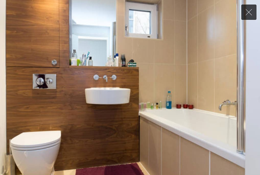 Your bathroom: it is accessible from the common corridor, only for you to use