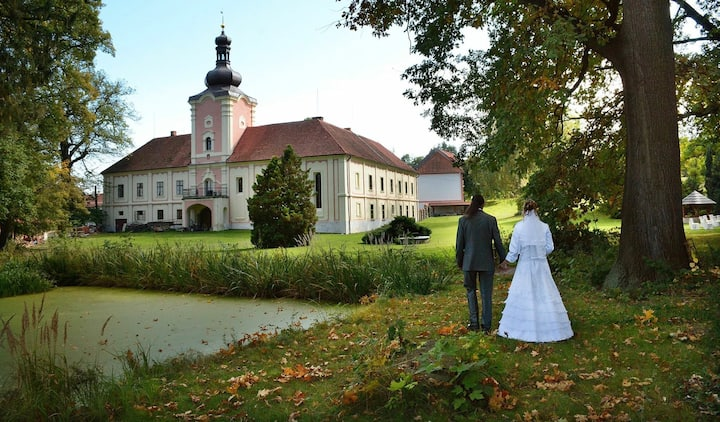 Romantický pokoj pro dva na zámku