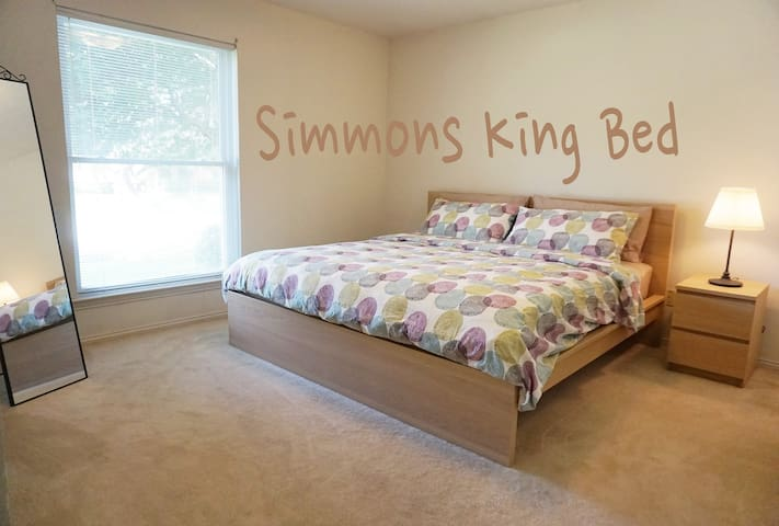 Simmons Beautyrest King Bed - Plano - House