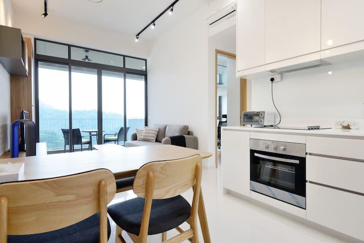 Master room overlooking greenery - Singapore - Huis