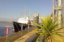 Royal Yacht Britannia, one of Edinburgh's Top Visitor Attractions, Ocean Terminal, Leith