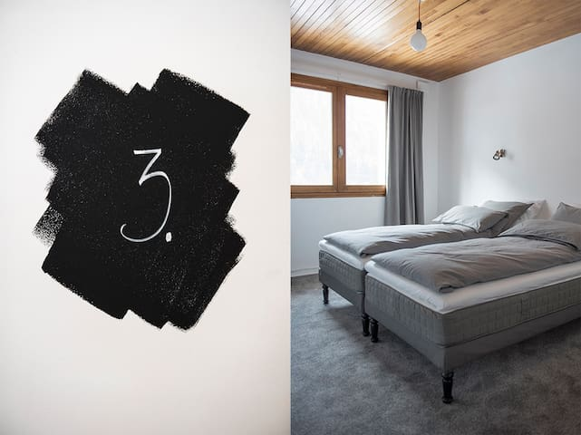 Double Room 3 (Bed 180 x200) and breakfast - Séez - House