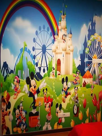 迪士尼3D壁画
