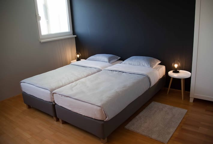 Bedroom 2: Boxspring type beds offer extra comfort and good night sleep.
