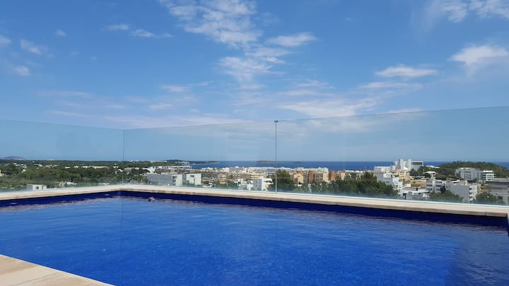 Modern house with pool&seaview,Santa Eulalia,Ibiza