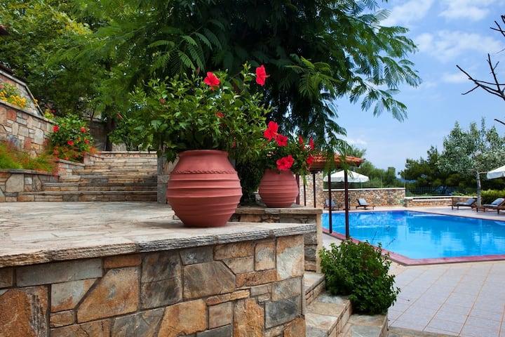 Alonissos beach villa 5 steps away from the sea!