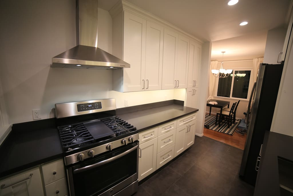 Kitchen with brand new appliances